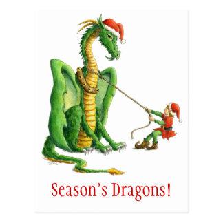 Drachepostkarte der Jahreszeit Postkarte