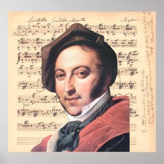 Dragonetti ~ Gioachino Rossini mit Poster