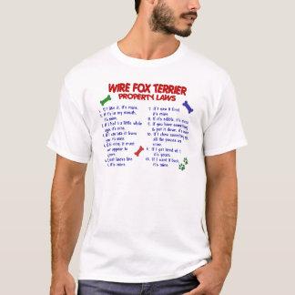 DRAHT-FOXTERRIER Eigentums-Gesetze 2 T-Shirt
