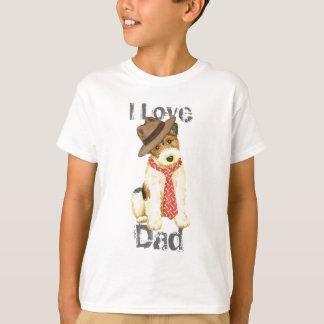Draht-Foxterrier-Vati T-Shirt