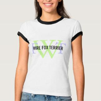 Draht-Foxterrier-Zucht-Monogramm T-Shirt