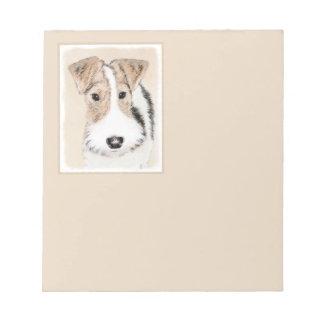 Drahtfox-Terrier-Malerei - niedliche ursprüngliche Notizblock