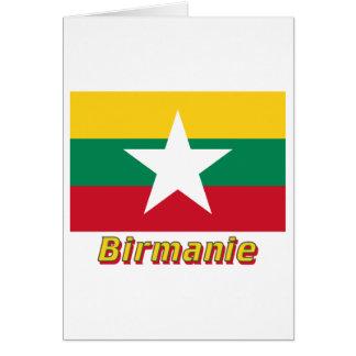 Drapeau Birmanie Avec le Nom en français Karte