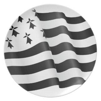 Drapeau Bretone (bretonische Flagge) Melaminteller