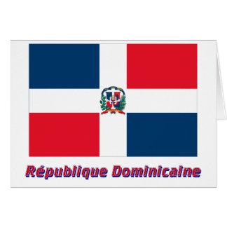 Drapeau République dominicaine nom en français Karte