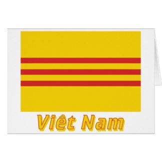 Drapeau Seifenlösung-Viêt Nam Avec le Nom en Karte