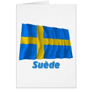 Drapeau Suède Avec le Nom en français Karte