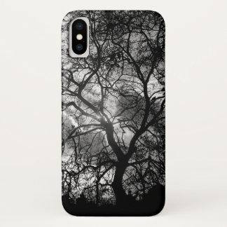 Drastische London-Baum-Silhouette iPhone X Hülle