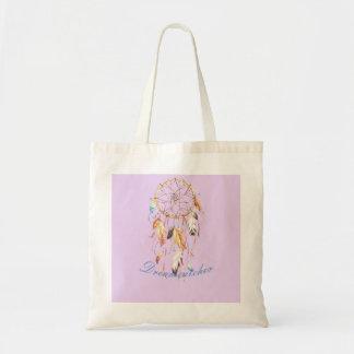 Dreamcatcher-auf rosa Hintergrund-Budget-Tasche Tragetasche