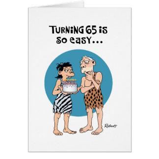 Drehen65 Geburtstags-Gruß-Karte Karte