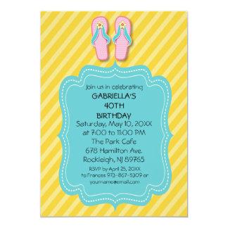 Drehen Sie Reinfall-Geburtstags-Party Einladung um