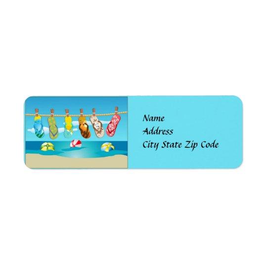 Drehen Sie Reinfall-Sommer-Adressen-Etikett um Rückversand-Adressaufkleber