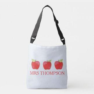 Drei Apfel-Tasche Tragetaschen Mit Langen Trägern