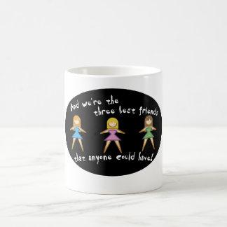 Drei beste Freund-Tassen Verwandlungstasse