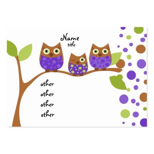 Drei eulen mini visitenkarten zazzle for Visitenkarten gratis vorlagen