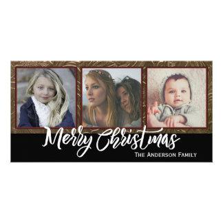 Drei Foto-frohe Weihnachten Karte