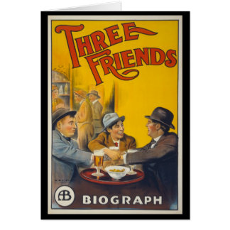 Drei Freunde Karte