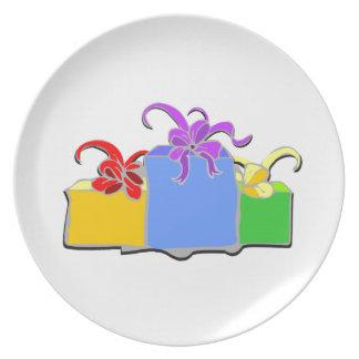 Drei Geschenke Teller
