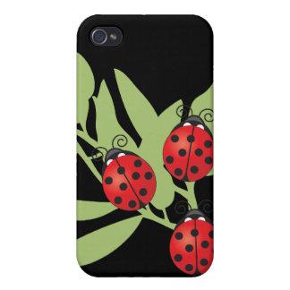 Drei glückliche Marienkäfer iPhone 4/4S Cover