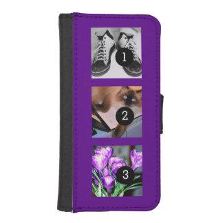 Drei Ihrer Fotos, zum von Ihrem eigenen Momento zu Geldbeutel Hülle Für Das iPhone SE/5/5s
