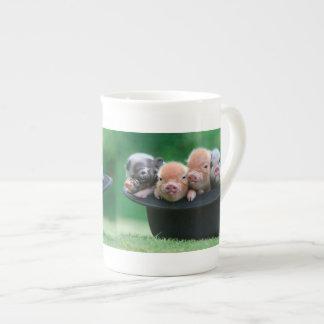 Drei kleine Schweine - drei Schweine - Schweinhut Prozellantasse