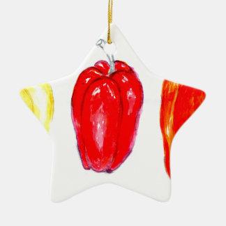 Drei Paprikaschoten Art2 Keramik Stern-Ornament