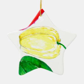 Drei Paprikaschoten-Kunst Keramik Stern-Ornament