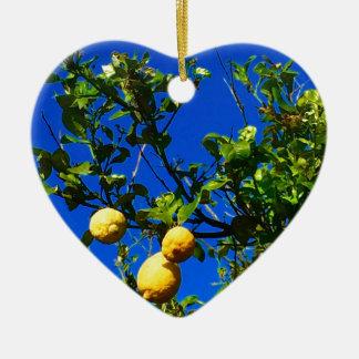 Drei sizilianische Zitronen Keramik Ornament