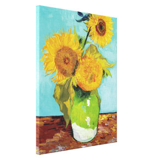 Drei Sonnenblumen | Vincent van Gogh Galerie Falt Leinwand