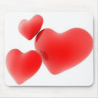 Drei von Herzen Mousepads