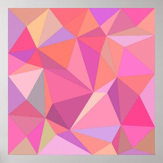 Dreieck abstrakt poster