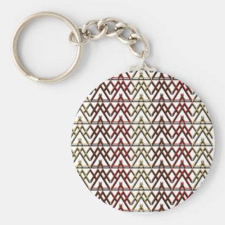 Dreieck-Azteke-Muster Standard Runder Schlüsselanhänger