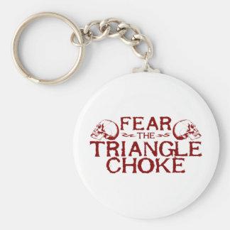 Dreieck-Drosselklappe Standard Runder Schlüsselanhänger
