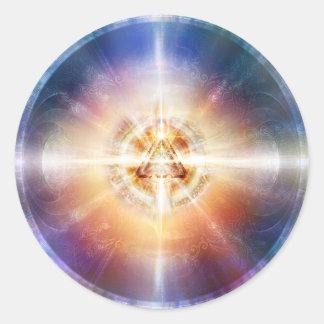 Dreieck-Kugel des Stern-H114 Runder Aufkleber