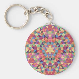 Dreieck-Mandala 1 Schlüsselanhänger
