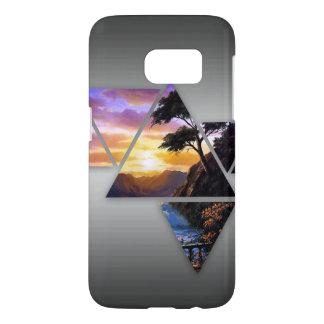 Dreieck-Sonnenuntergang-Fall (Samsung-Galaxie S7)