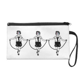 Dreiergruppen des Seilspringen-3D Wristlet Handtasche