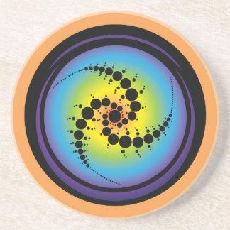 Dreifacher gewundener Ernte-Kreis Sandstein Untersetzer