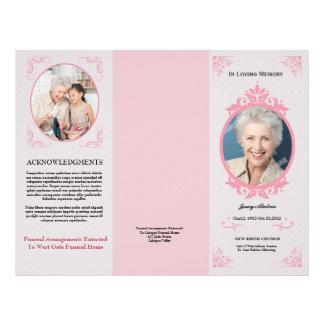 Dreifachgefaltete Begräbnis- Programm-Schablone Flyer