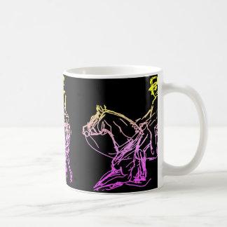 Dressage 3 mehr skizziert Mehrfarben Kaffeetasse