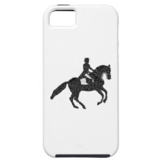 Dressage iPhone Fall - Mosaik-Pferd und Reiter iPhone 5 Cover