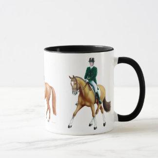Dressage-Pferdereiter-Tasse Tasse