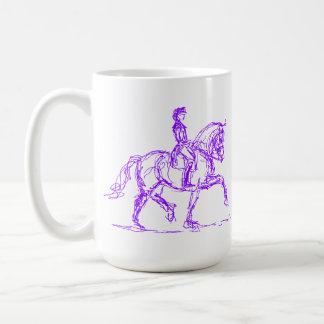 Dressage-PferdeTasse lila Tasse