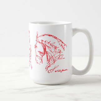 Dressage-PferdeTassen-Rot Kaffeetasse