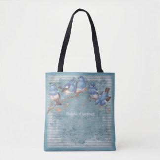 Drosseln des Glückes - Pastellblau - Handtasche
