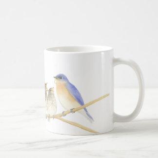 Drosseln in der Watercolor-Tasse Kaffeetasse