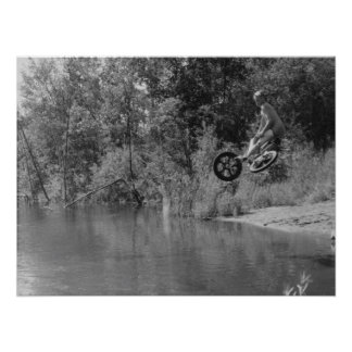 Druck der alte Schule BMX, ein Tag in dem See Poster