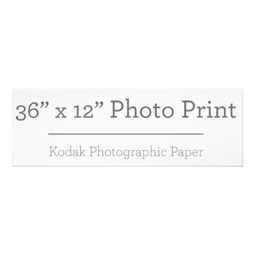 91,44cm x 30,48cm, Kodak Premium Foto-Papier (Satin)