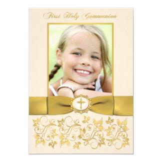 DRUCKband heilige Kommunions-Foto laden ein 12,7 X 17,8 Cm Einladungskarte