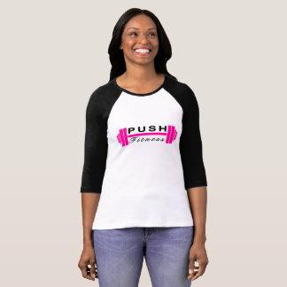 Drücken Sie Fitness-Baseball T T-Shirt